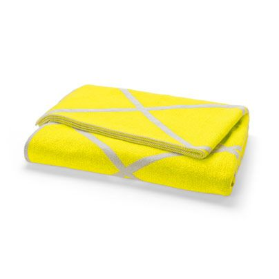 Diamond Throw in Bright Yellow