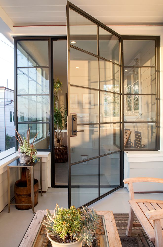 Steel Doors and Windows. The steel windows and doors add a punch of contemporary…