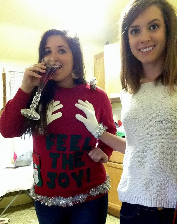 Making inappropriate Christmas sweaters. TSM.