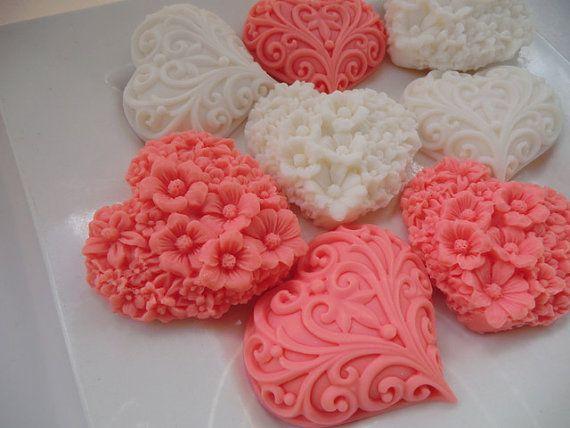 30 heart soap heart baby shower favor heart wedding favor