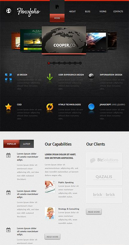 Php Website Templates 166 Best Webdesign Web Templates Images On Pinterest  Coffee