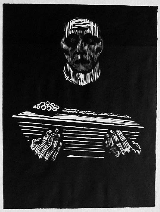 Käthe Kollwitz - Kindersterben (woodcut, 1925)