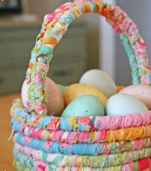 DIY Easter Fabric Basket | scroll down for tutorial