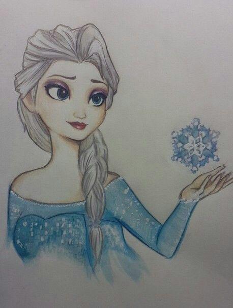 Elsa art made by @Katie Hrubec Hrubec Hrubec
