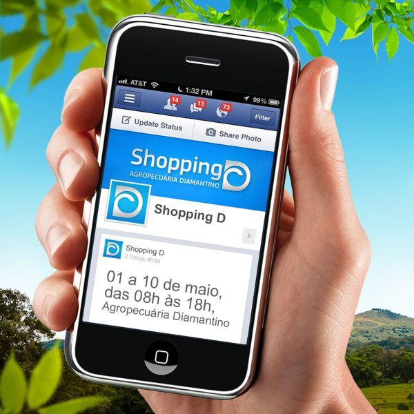 Campanha de marketing para a feira de gado anual Shopping D e Leilão Virtual Dia D.