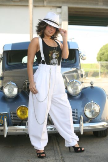 Mili Duk  www.facebook.com/pages/Mili-Duk/297661550283855?ref=hlZoot suits for ladies