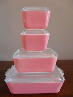 Pyrex Pink Fridgies