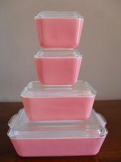 Pyrex Pink Fridgies