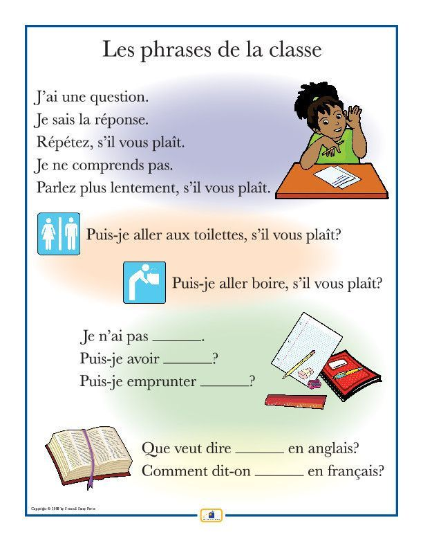 French Phrases Poster Learn French Teaching Posters Teaching French
