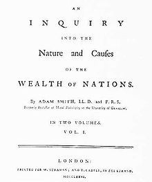Adam Smith's Wealth of Nations introduced the ideas of a free market economic system that eventually led to the rise of capitalism when coordinated with the Industrial Revolution. MD - 18th c. PP