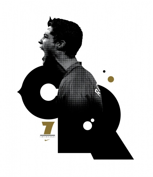 Nike Football  -  T-Shirt designs of Nike's football team players, Rooney, Ronaldo & Torres.  -  2008