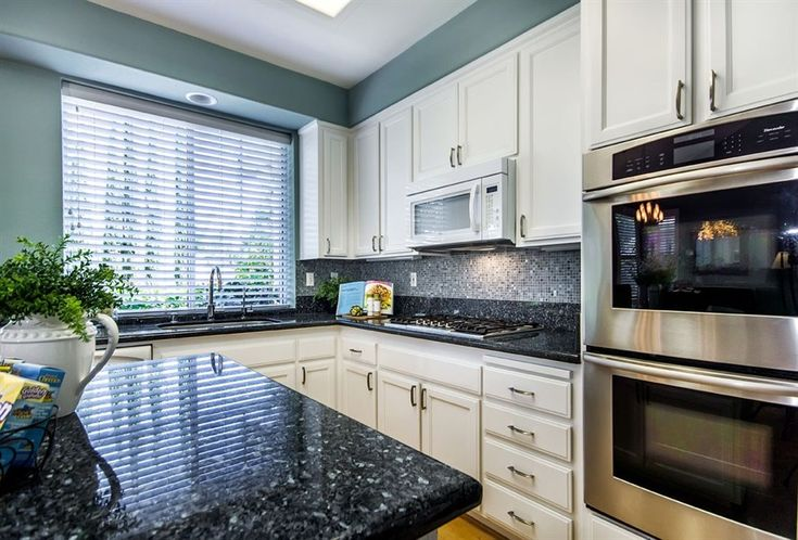 kitchens blue pearl granite countertops - Google Search