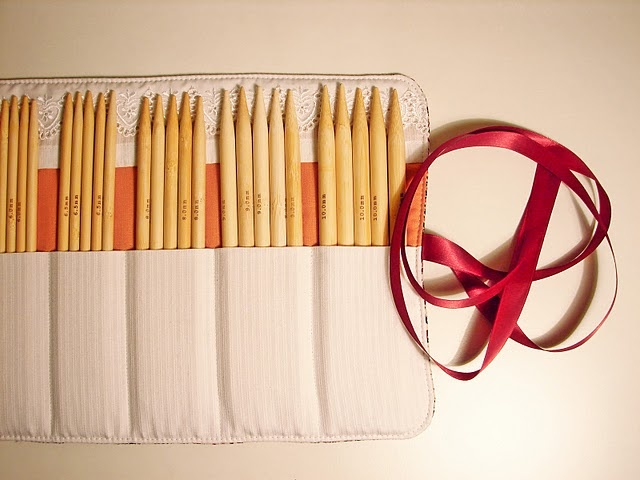knitting needle roll tutorial