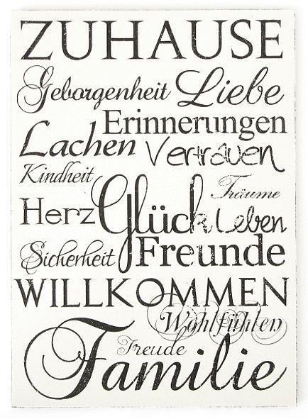 XXL-Vintage-Shabby-Schild-ZUHAUSE-Holzschild-Dekoschild-Dekoration-Geschenkidee