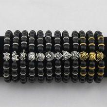 US $1.92 Best-selling matt stone bracelet, Buddha head, elephant, leopard head, lion head, owl turtle bracelet men and womenbb0682. Aliexpress product