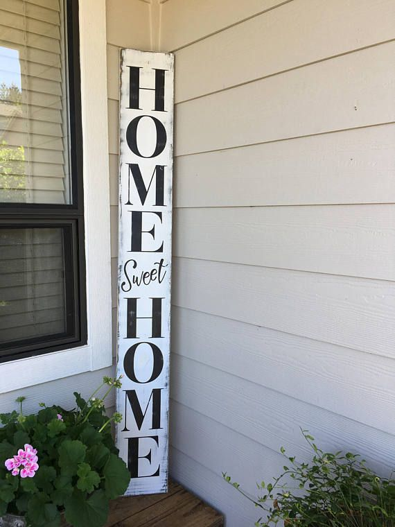 Home Sweet Home Sign  Farmhouse Style Wood Sign  Porch Sign