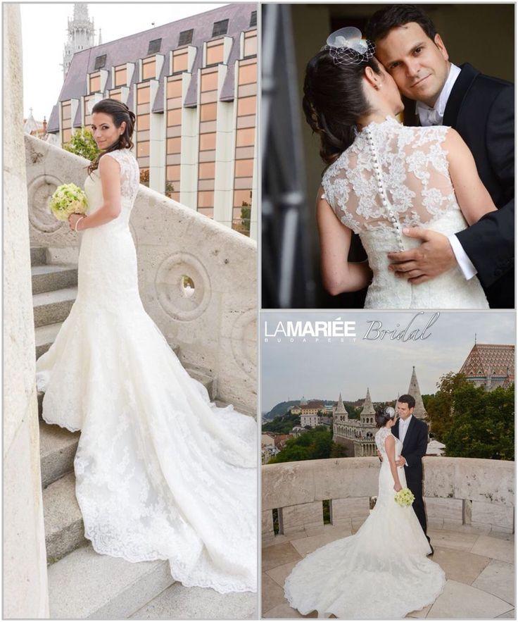 Ugalde esküvői ruha - Pronovias kollekció - Zsuzsi menyasszonyunk - La Mariée Budapest http://lamariee.hu/eskuvoi-ruha/pronovias-2013/ugalde