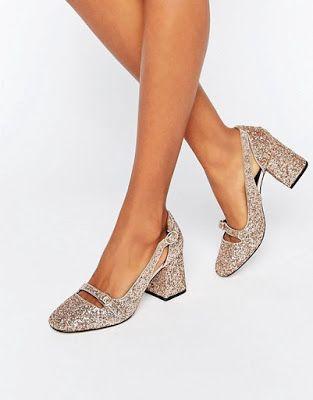 Zapatos de Tacon bajo para Fiesta juveniles