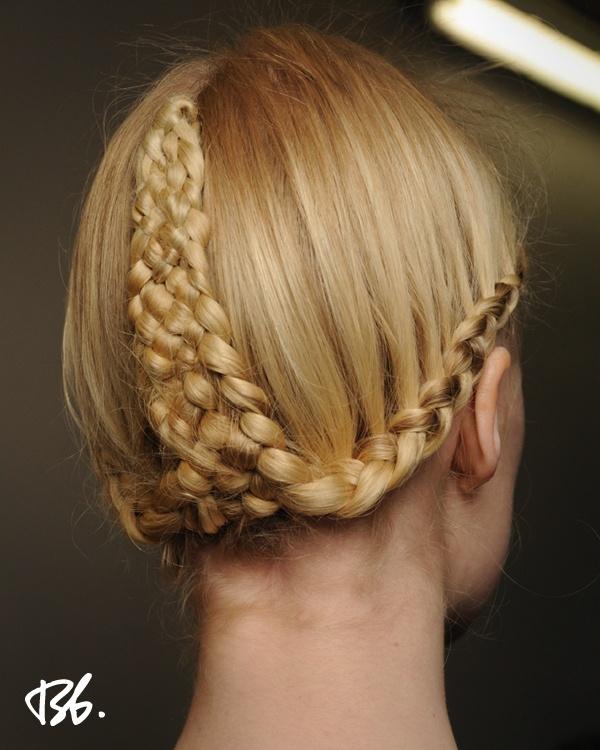 Fall/Winter Fashion Week. Hair by Bb. Stylist Tomohiro. #fashionweek #fashion #hair #bumbleandbumble #style #braids
