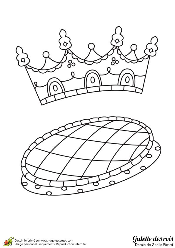 Les 39 meilleures images du tableau galette des rois sur - Couronne a colorier ...