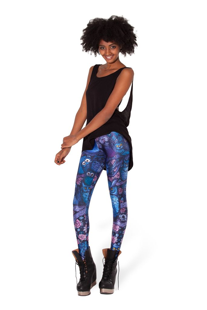 Midnight Owl Leggings (Made to Order) by Black Milk Clothing