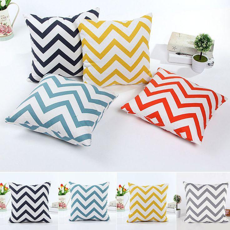 Square Home Bed Decorative Throw Pillow Case Sofa Cushion Cover in Home & Garden, Home Décor, Pillows | eBay