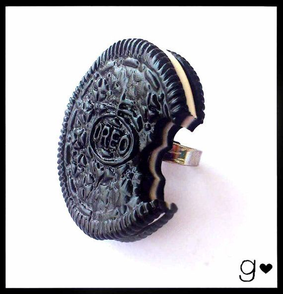 Oreo Inspired Ring Realistic Food by GabriellesCreations on Etsy