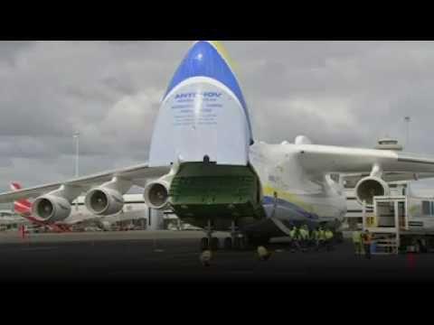 World biggest plane Antonov An-225 Mriya lands in Australia