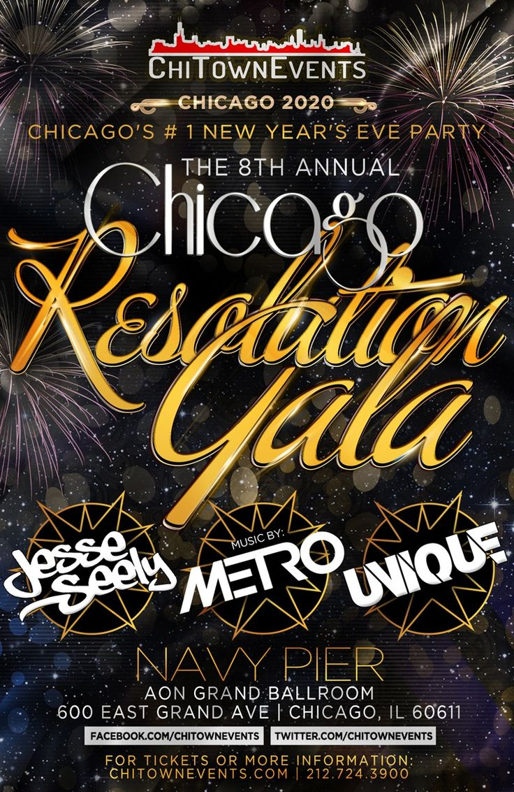Chicago New Years Eve Annual Resolution Gala at Aon Grand