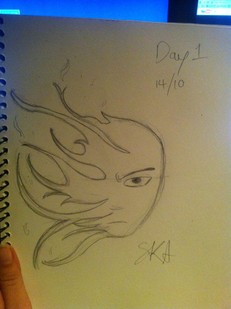 I need to improve my drawing ability so I'm challenging myself to draw every day for 30 days. Here's day 1