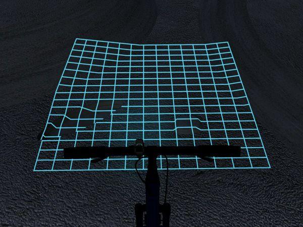 地面をグリッド状に照らす自転車ライトなら、デコボコも一目瞭然さ | roomie(ルーミー)
