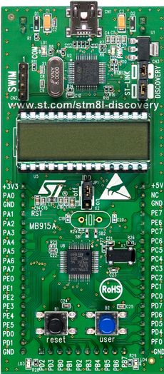 STM8L-DISCOVERY board photo