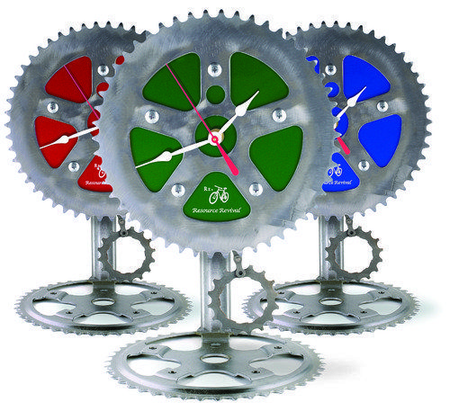 Recycled Bike Parts Clock