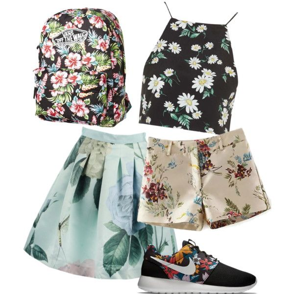 egoztic by paluna on Polyvore featuring polyvore fashion style Topshop Ted Baker NIKE Vans