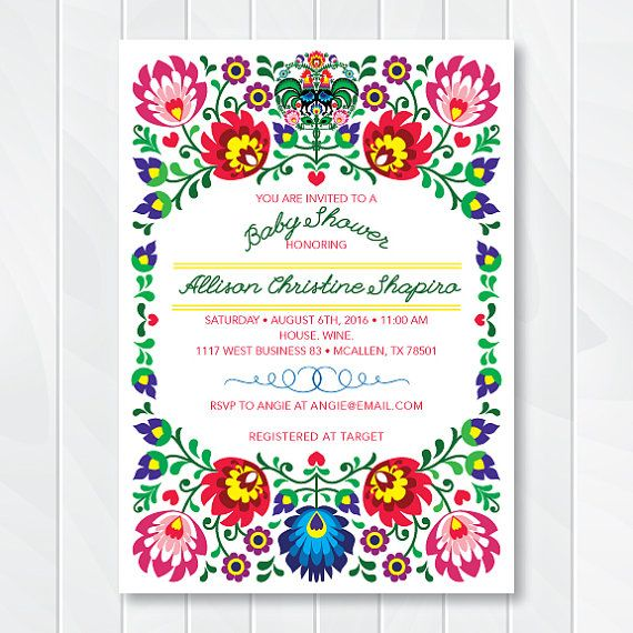 Cinco De Mayo Invite Fiesta Baby Shower by ThenComesPaper on Etsy