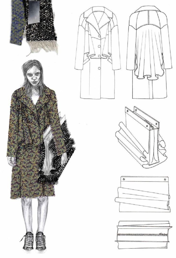 Fashion Sketchbook - fashion illustration & flat drawings; fashion portfolio // Joanna Fisher