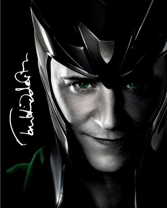 Tom Hiddleston Loki Hot | The Avengers Loki The Official Tom Hiddleston Signed 8x10 Autograph ...