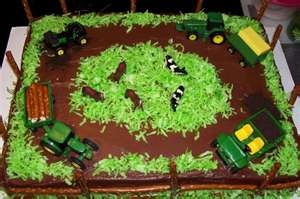John Deere Farm Birthday Cake