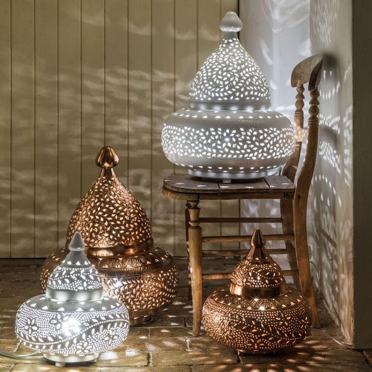 Moroccan tyre floor lamps