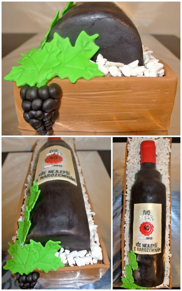 Dort lahev vína