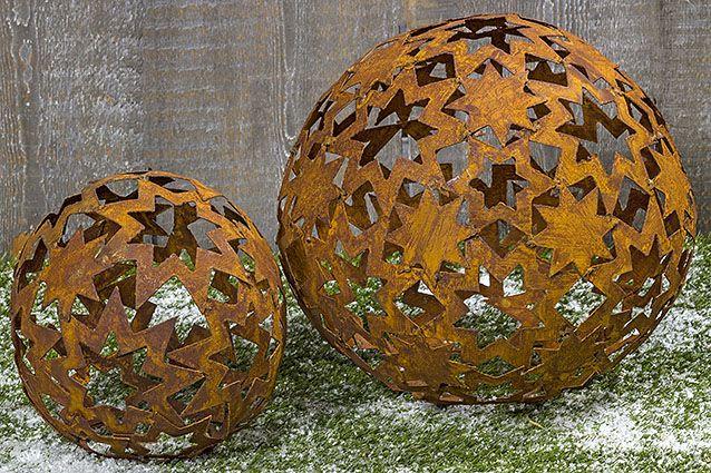 Gartendekoration #kugel #stern #rost #garten #outdoor #winter #rost