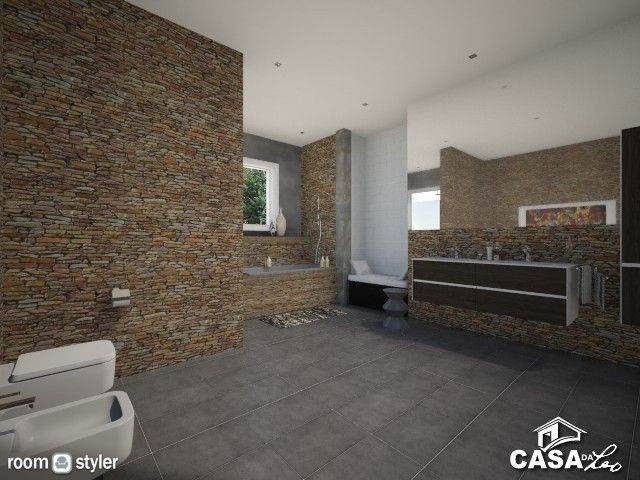 Larissa (Bathroom) Banheiro moderno rústico