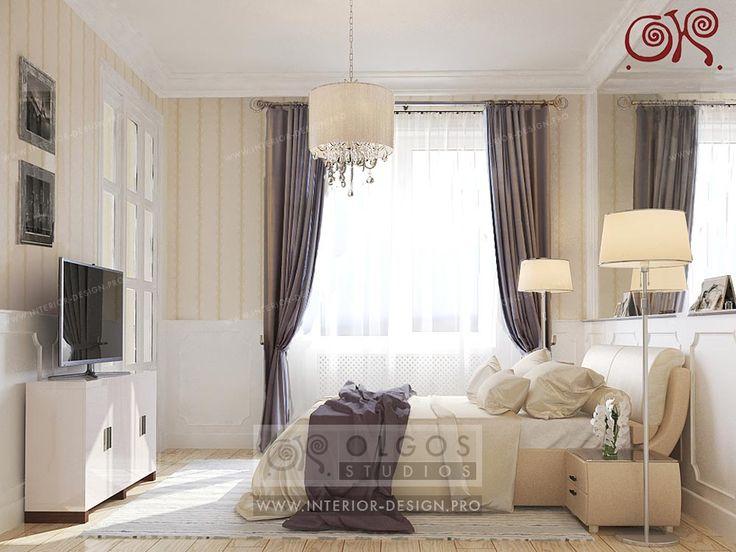 Bedroom interior  in Beige Colors