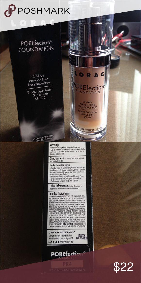 Lorac foundation PR4 new. In its box lorac Makeup Foundation