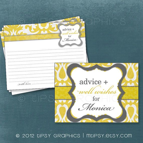 Wish Cards - This is a sweet idea for bridal or baby shower.