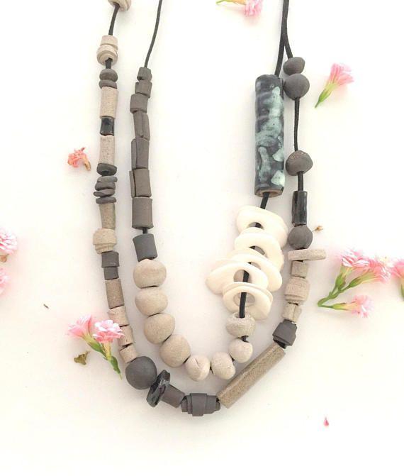 Dichiarazione collana gioielli in ceramica fatti a mano