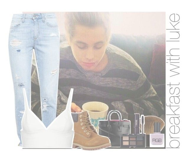 """""""breakfast with luke"""" by rosa-brooks ❤ liked on Polyvore featuring Paige Denim, Yves Saint Laurent, Timberland, T By Alexander Wang, H&M, INIKA, NARS Cosmetics and RGB Cosmetics"""