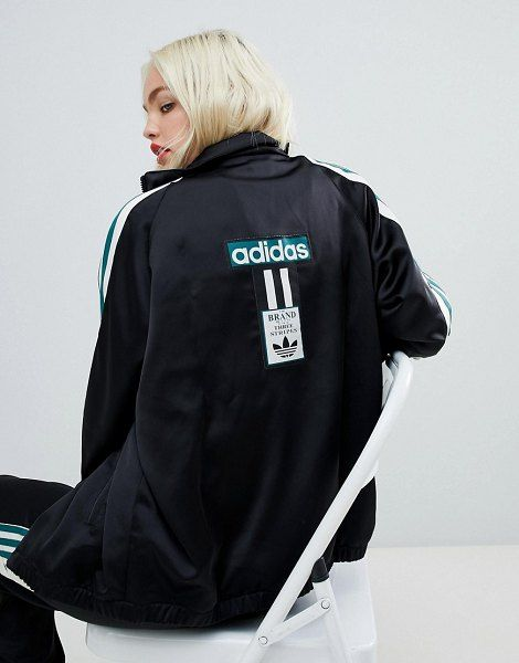 6fb25a3cc814 adidas Originals adidas original three stripe track jacket with vintage logo.   adidasoriginals