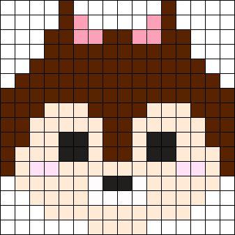 Chip TsumTsum Perler Bead Pattern / Bead Sprite