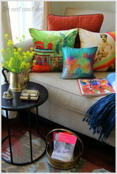 Use India Circus Cushion covers to add eclectic vibe to a  space or to infuse bold splashes of color to your decor.